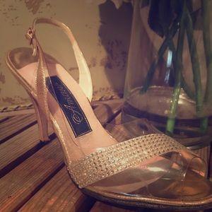 Amano vintage 50-60's shoe Gold  & rhinestone